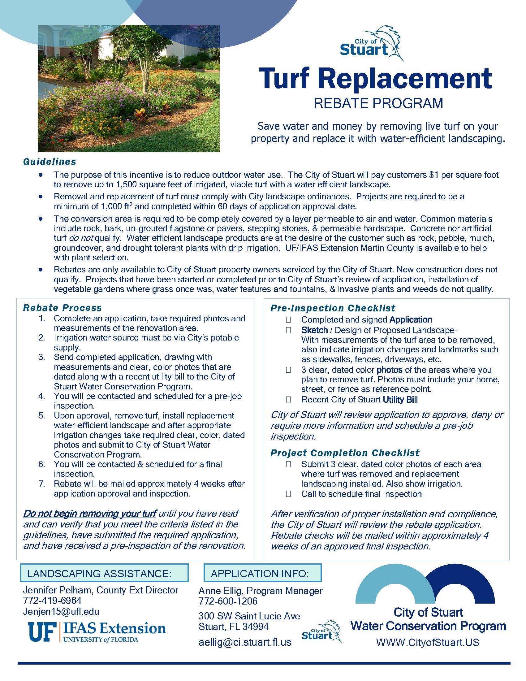 1 Turf Replace Program Flyer Graphic