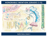 Honorable Mention Grades 3 through 5