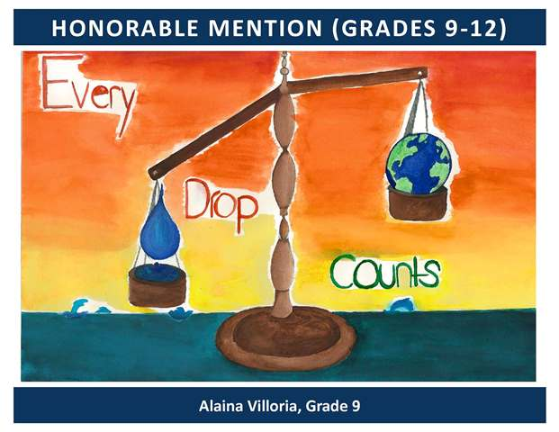 Honorable Mention Grades 9 through 12