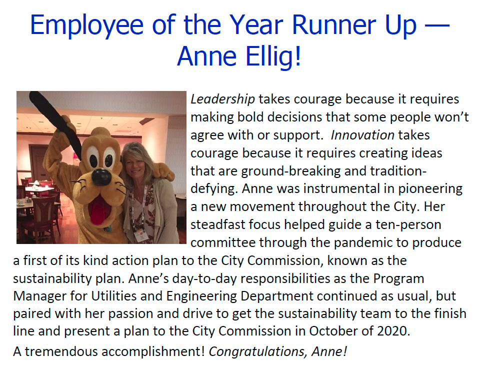 Employee of the Year - Runner Up!